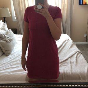 Berry pink T-shirt dress!